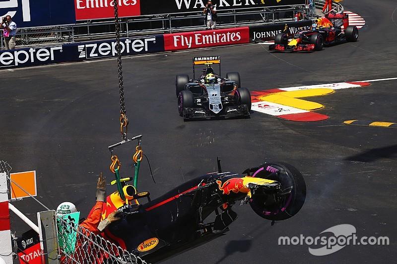 Verstappen choca en la calificación del GP de Mónaco