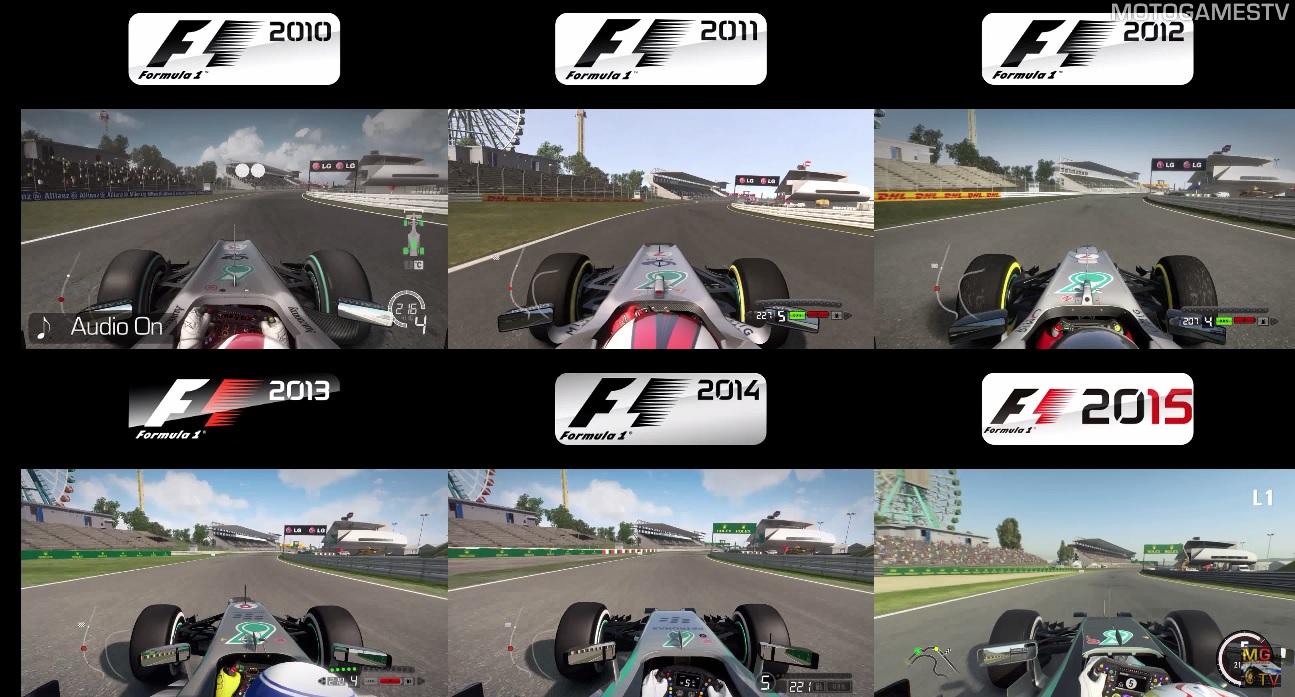 F1 2010 Vs. F1 2011 Vs. F1 2012 Vs. F1 2013 Vs. F1 2014 Vs. F1 2015