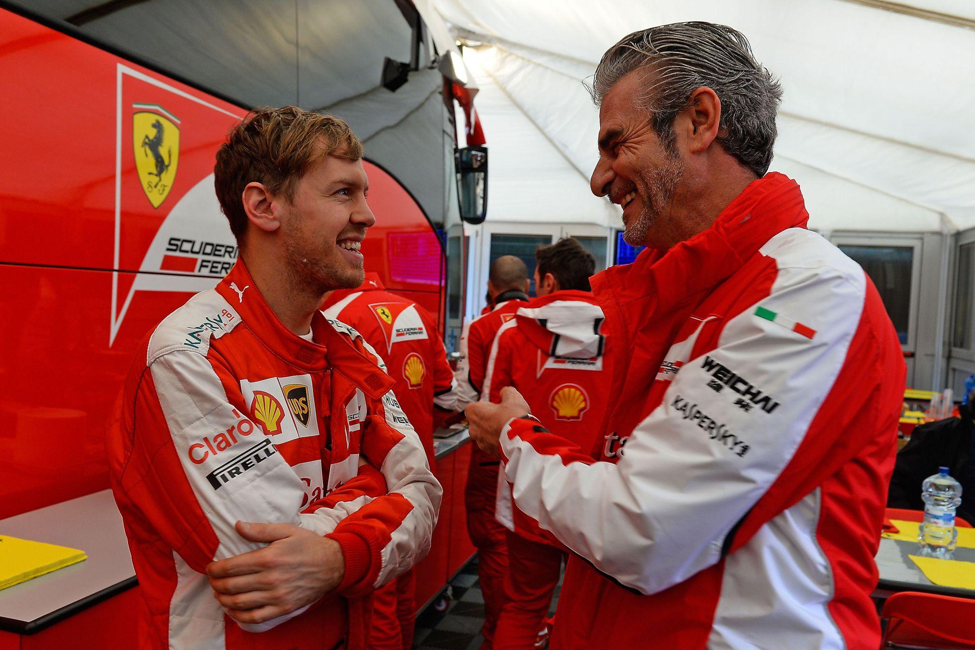 Vettel tagadta, hogy Arrivabene távozna a Ferrari éléről!
