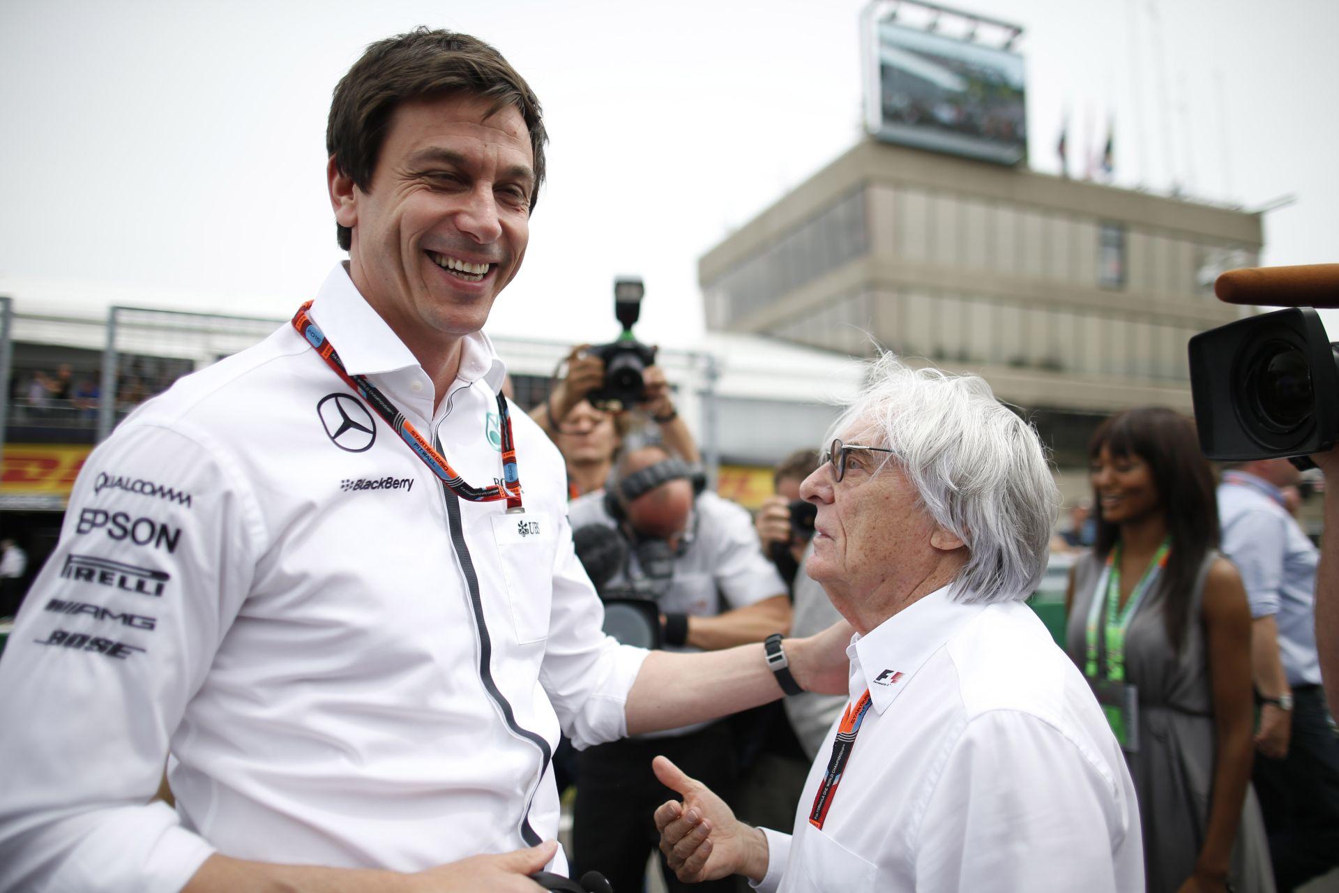 Ecclestone nagyon komolyan befenyíthette a Mercedest…