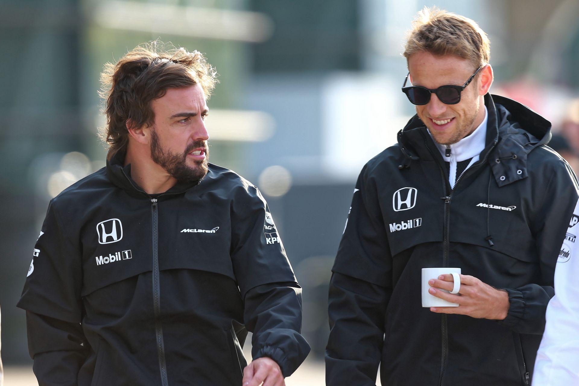 Alonso örülne neki, ha Button 2016-ban is a csapattársa maradna!