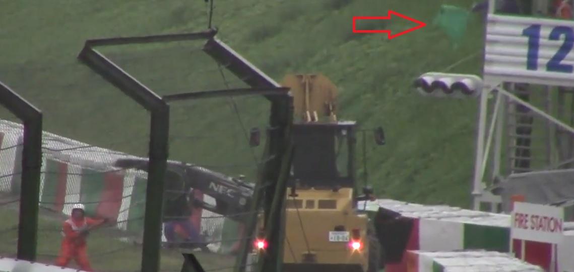 Zöld zászlót lengettek a 12-es toronyban, Bianchi balesetnél: vétettek a pályabírók?!