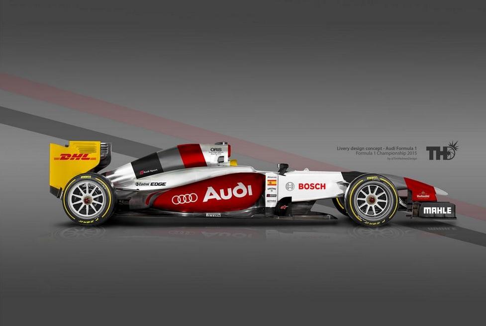 Egy elképzelt festés az Audi F1-es autójának