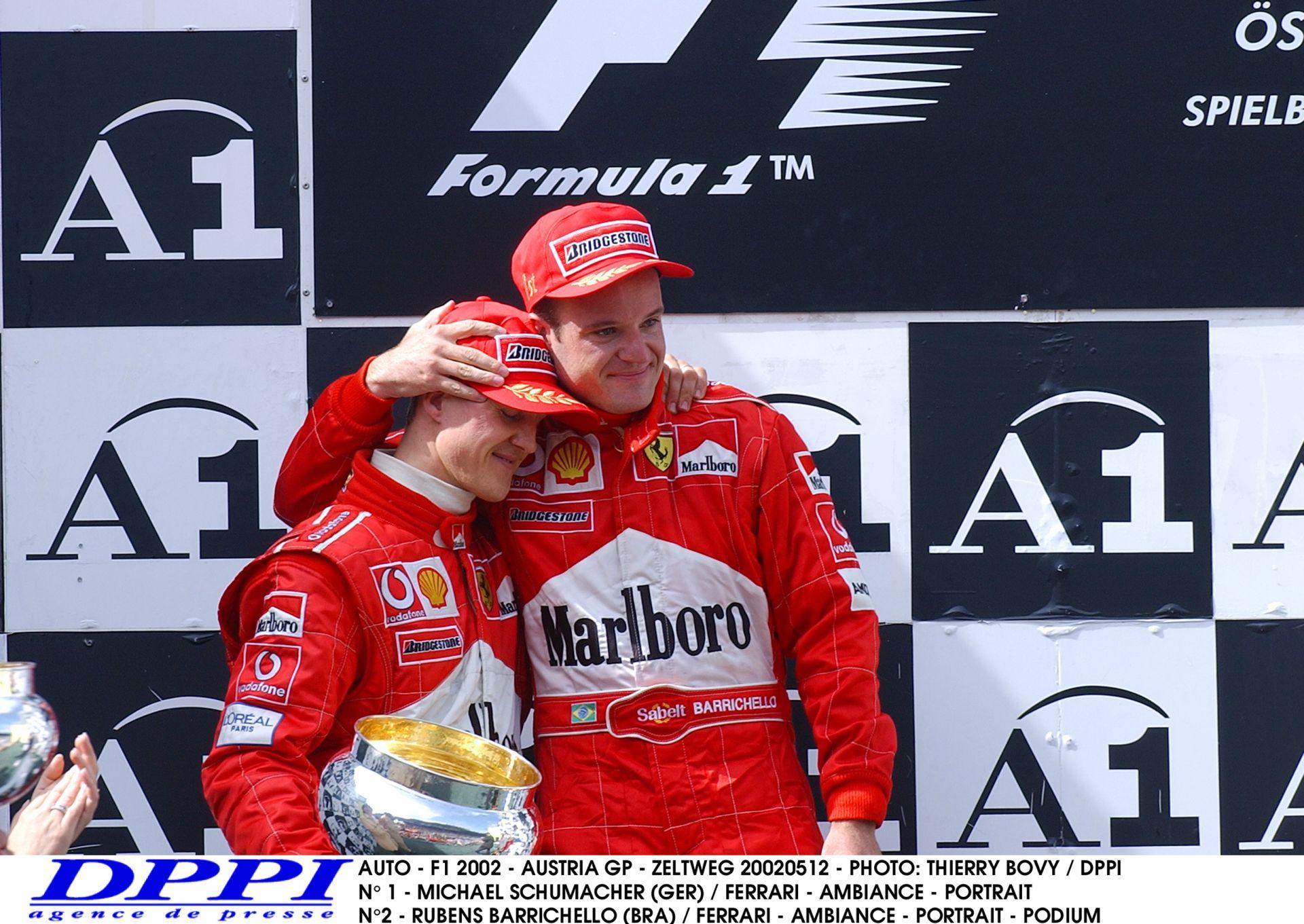 Az a bizonyos botrányos Osztrák Nagydíj: Barrichello nem akarta elengedni Schumachert