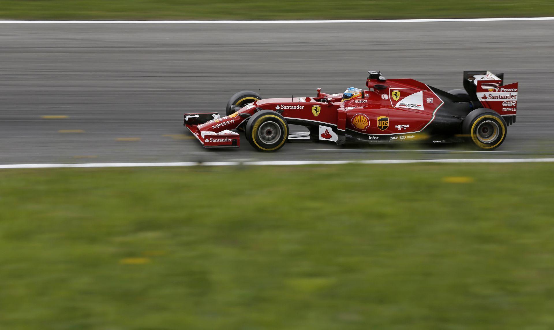 Alonso a jobb Ferrarival ott tudott lenni a harmadik helyen