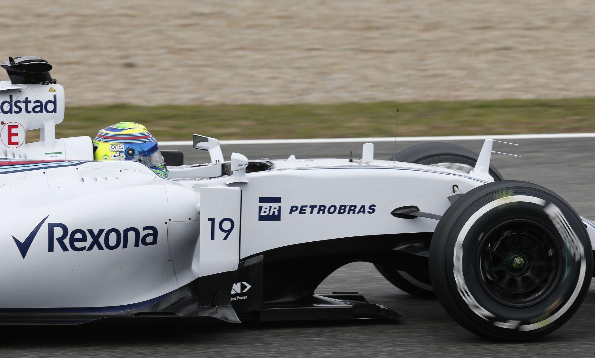"""Massa már nem """"szűz"""", megvolt az első teszt a Williams új gépével"""