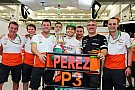 Pérez most a hős a Force Indiánál: Újra a dobogón az indiai csapat