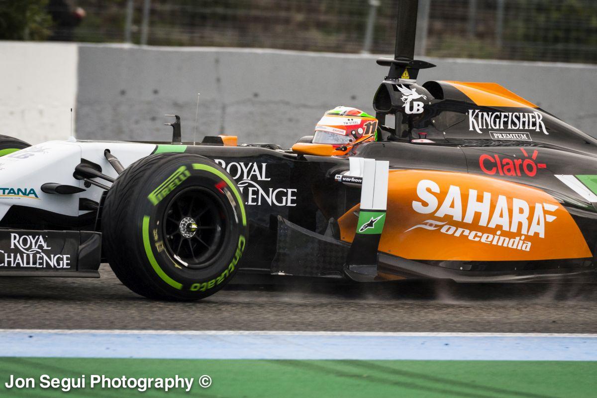 HD felvételen Pérez megállása és a Force India füstölése Jerezből