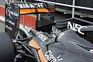 Force India: il profilo dell'ala posteriore diventa quasi piatto