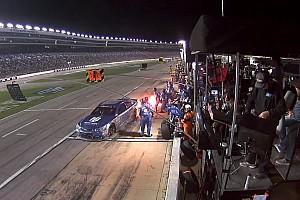 NASCAR BRÉKING NASCAR: lángoló autóval hajtott vissza a pályára