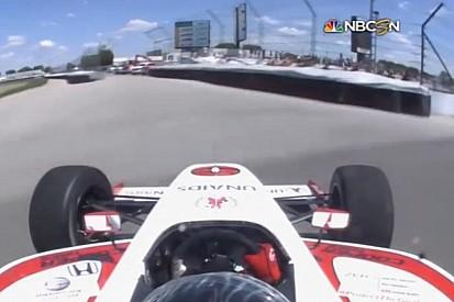 Indy Lights: Brutális baleset a versenyen: Szétszakadt autó, törött csukló