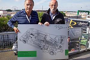 Le Mans Curiosità Giorgio Piola regala a Henri Pescarolo il disegno della Matra 1973