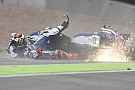 Regen spelbreker in eerste Duitse training, Lorenzo crasht