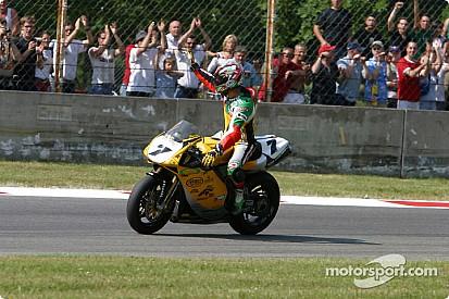 Superbike-Legende Pierfrancesco Chili bei Classic TT auf der Isle of Man