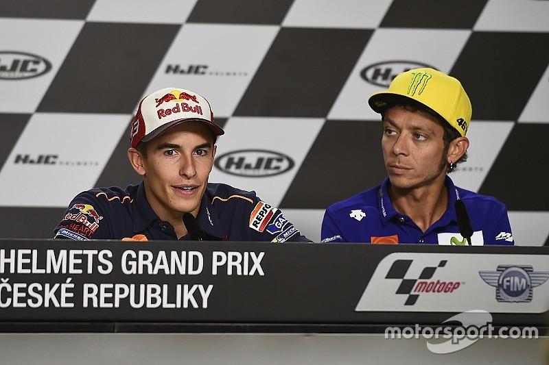 Onduidelijkheid over passeren baangrens Brno bij Rossi en Marquez
