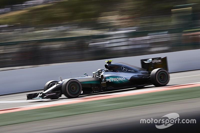 F1イタリアGP FP1:ロズベルグがソフトタイヤでトップタイム。バトンもハロをテスト