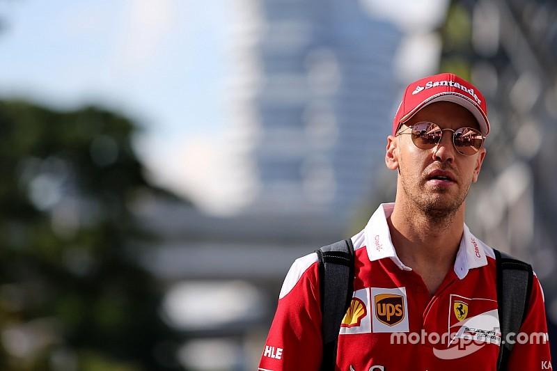 Vettel ontkent dat seizoen van Ferrari een ramp is