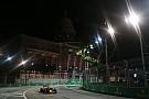 Un lagarto invadió la pista de Singapur