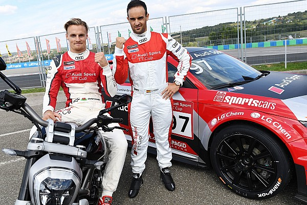 Davies y Forés, de la Ducati del WSBK al Audi TT Cup en Hungaroring