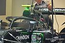F1-es technikaóra a McLaren hátsó szárnyával és Halójával
