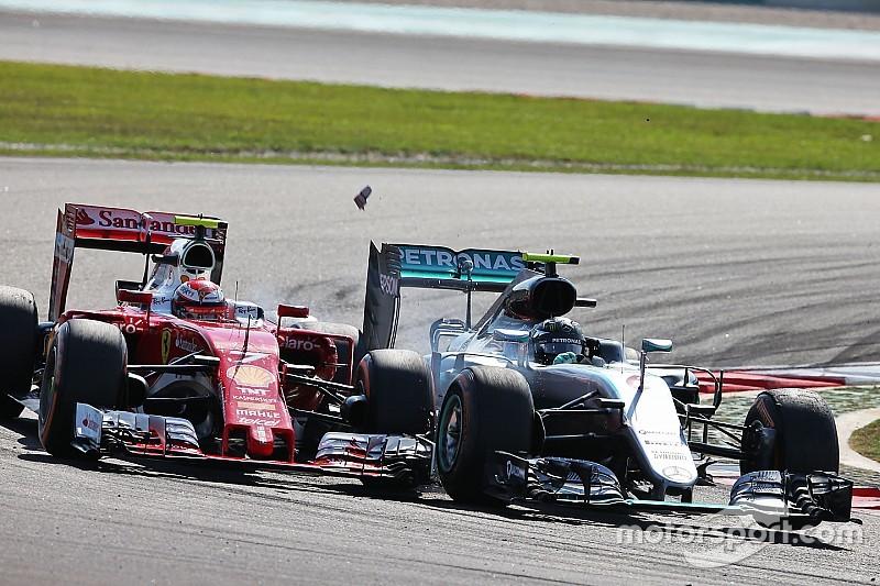 Nach Berührung mit Rosberg: Kimi Räikkönen 0,3 Sekunden pro Runde langsamer
