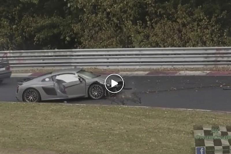Vidéo - Une Audi R8 se crashe sur le Nüburgring