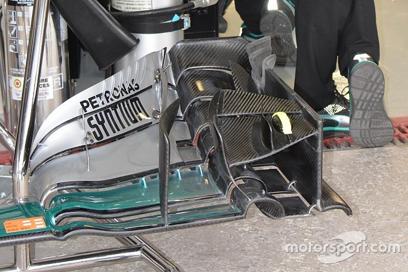 Tech update: Mercedes experimenteert met 2017-concept voorvleugel