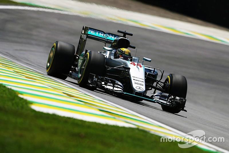 Hamilton ook rapste in tweede oefensessie Brazilië, Verstappen zesde