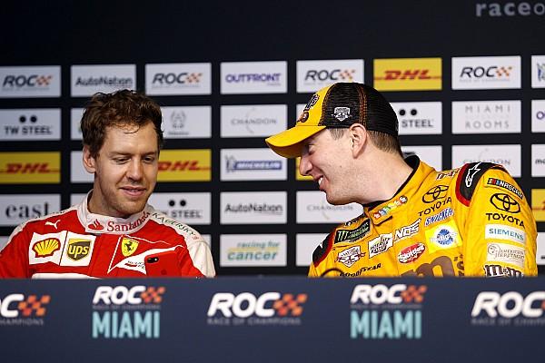 Vettel sisakot cserélt az amerikai sztárral