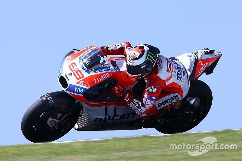 Lorenzo über MotoGP-Test auf Phillip Island: Schwierig ohne Winglets