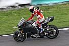 Stoner en piste avec Ducati lors d'un test privé à Barcelone