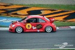Rene Arnoux in a bug