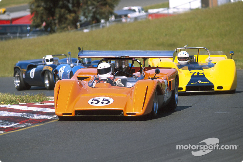 A group of Can-Am cars