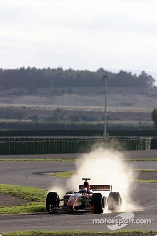 Jos Verstappen en el circuito de Valencia