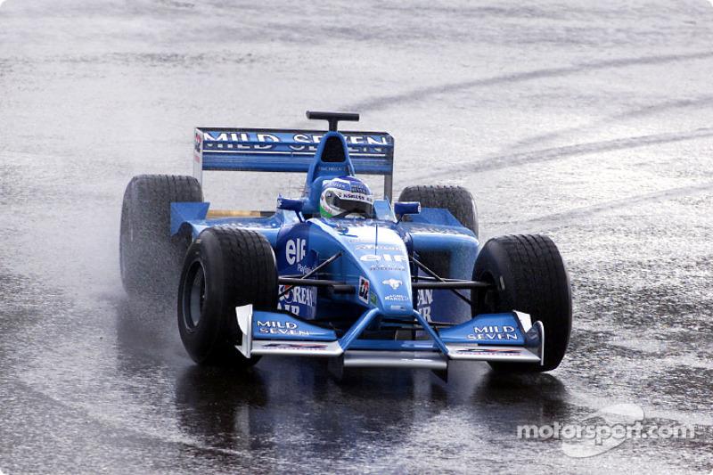 Giancarlo Fisichella lors d'une séance d'essais privés