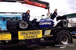 Ralf Schumacher's Williams on a truck