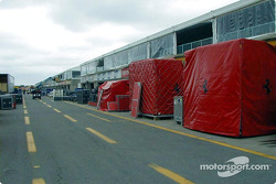 Setting up in the pitlane