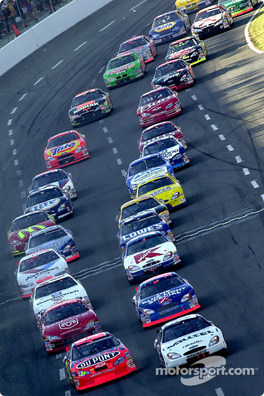 Ryan Newman leads the start of the Coca Cola 600