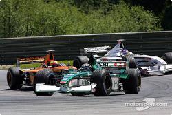 Eddie Irvine, Enrique Bernoldi and Jacques Villeneuve