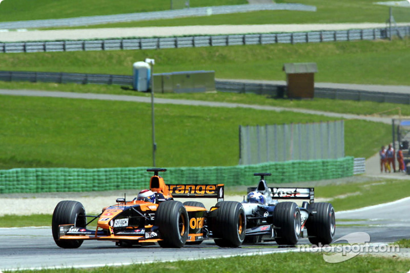 Jos Verstappen chased by David Coulthard