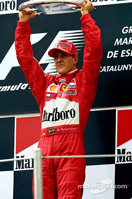 Michael Schumacher en el podio