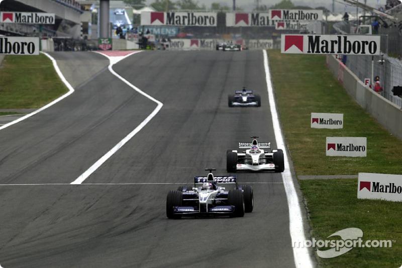 Juan Pablo Montoya and Jacques Villeneuve