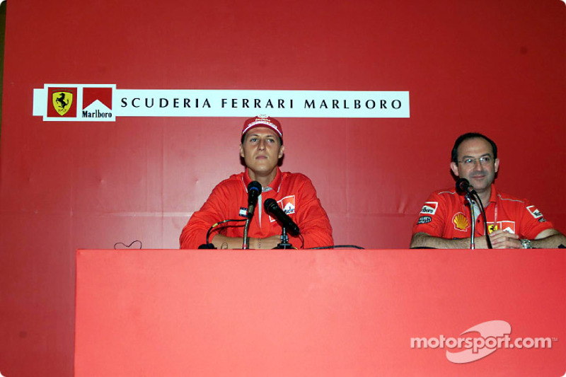 Marlboro Press Conference: Michael Schumacher and Claudio Berro
