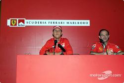 Marlboro Press Conference: Michael Schumacher and Claudio Berro