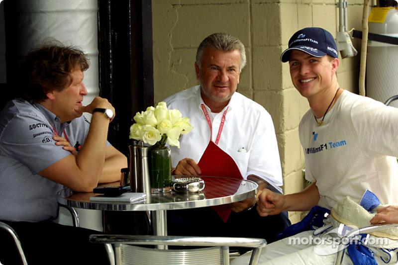 Norbert Haug, Willy Webber and Ralf Schumacher