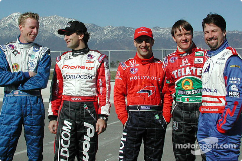 Driven Street Team co-captains: Memo Gidley, Alex Zanardi, Tony Kanaan,Adrian Fernandez and Michael Andretti