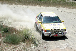 Nick Korpal and Eric Schleicher in a Mazda 323GTX