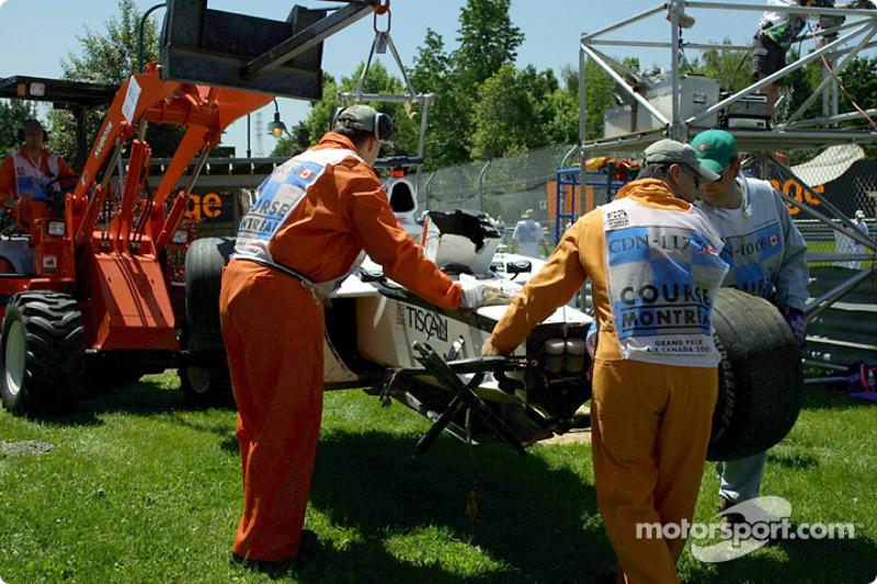 A tough morning session for Jacques Villeneuve