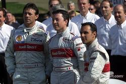 The Audi #2 drivers: Rinaldo Capello, Christian Pescatori, Laurent Aiello