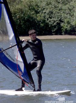 Columbia River Gorge: Patrick Carpentier on a windsurf